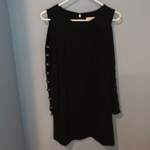 DKNY dress with gold detailing on arms